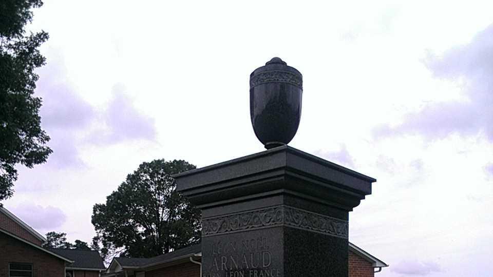 Leo Arnaud is buried in Yadkin County. (Photo by WXII's Stephanie Berzinski)