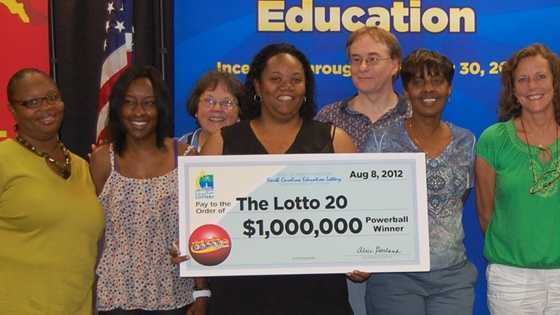 "Some of the ""Lotto 20"" winners from Greensboro (NC Education Lottery)"