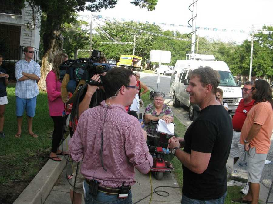 Author Nicholas Sparks is interviewed