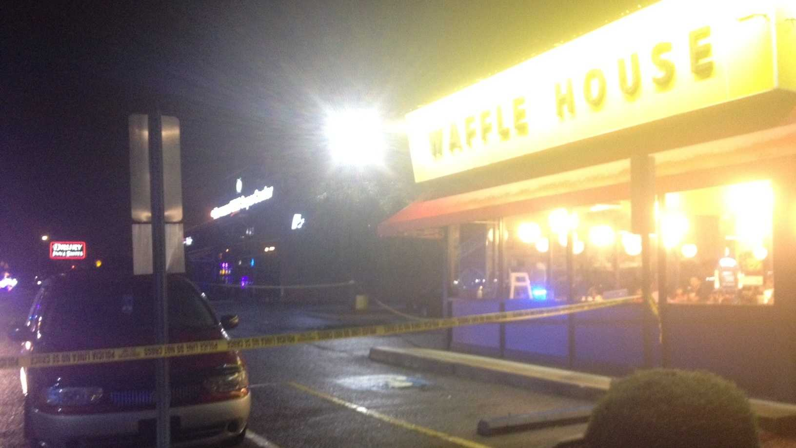 Greensboro police say one person was found with a gunshot wound near Waffle House at 3204 High Point Rd. around 10:30 p.m. Thursday.