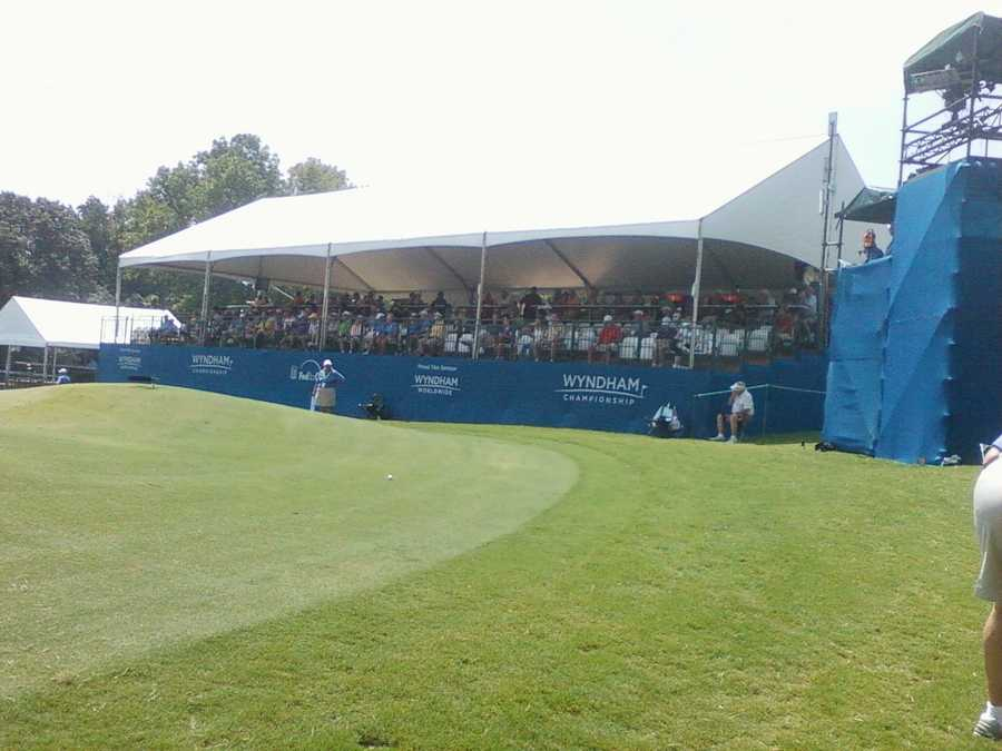 The Wyndham Championship is taking place this week and weekend in Greensboro. WXII's Chris Petersen sent these photos to WXII12.com.