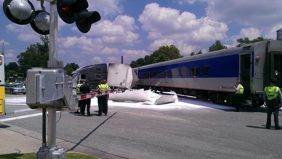 Crews are investigating a Thursday afternoon crash that involved a train and a semi-truck.