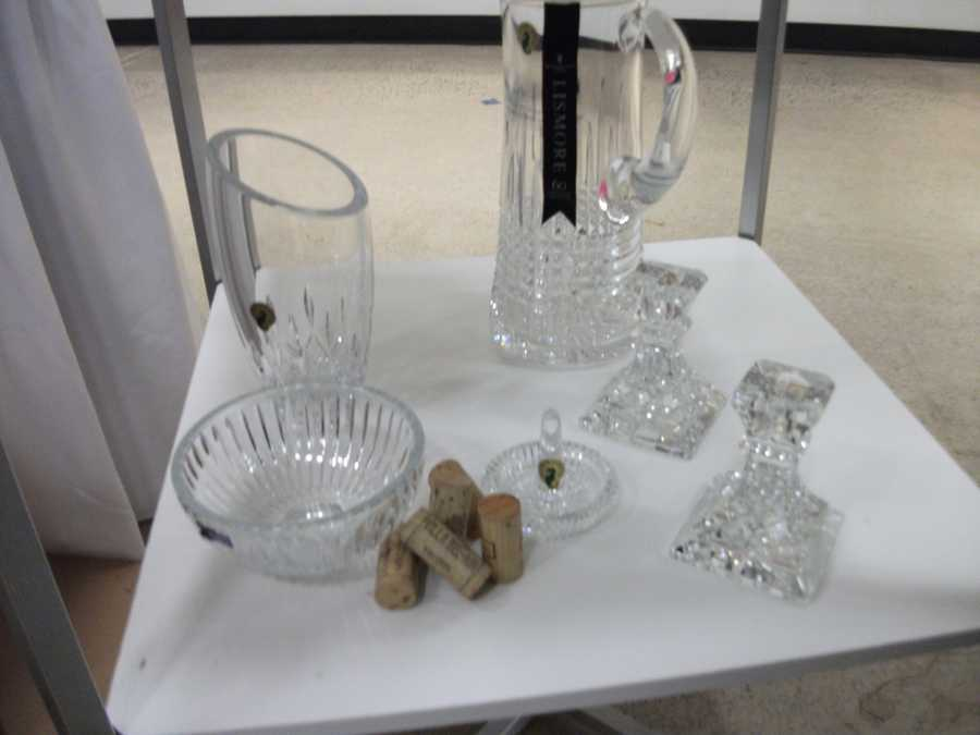 Crystal glassware from Belk make great gifts...