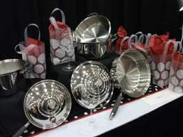 Several pots and pans could be chosen from the Bridal Registry with Royal Prestige for the couple...