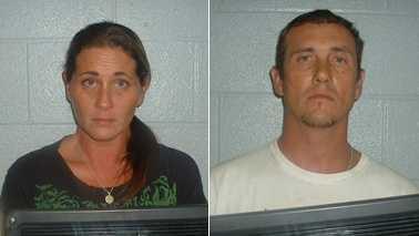 Calamity Jane Walton, left, and James Christian Walton, right (Yadkin County Sheriff's Office)