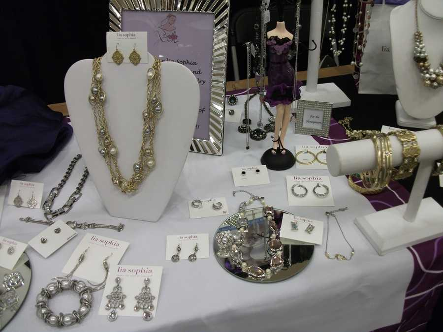 Several pieces of jewelry to choose from for the bride-to-be to wear during the wedding. (Lia Sophia)