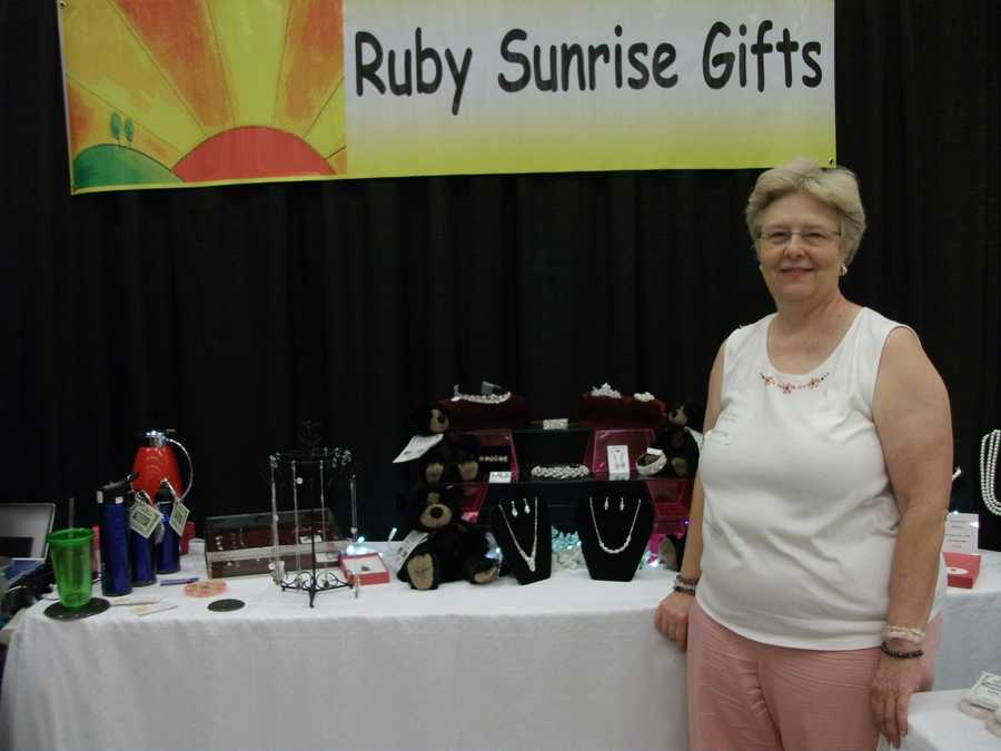 Ruby Surprise Gifts was at the Carolina Weddings Show to show off her jewelry and other wedding gifts...