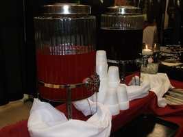 Tea and punch is served as well as food from these fine caterers...(Sagebrush Steakhouse)