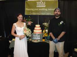 Whole Foods Market caterers as well as make cakes, serve drinks and has nice flower arrangements for your wedding reception...