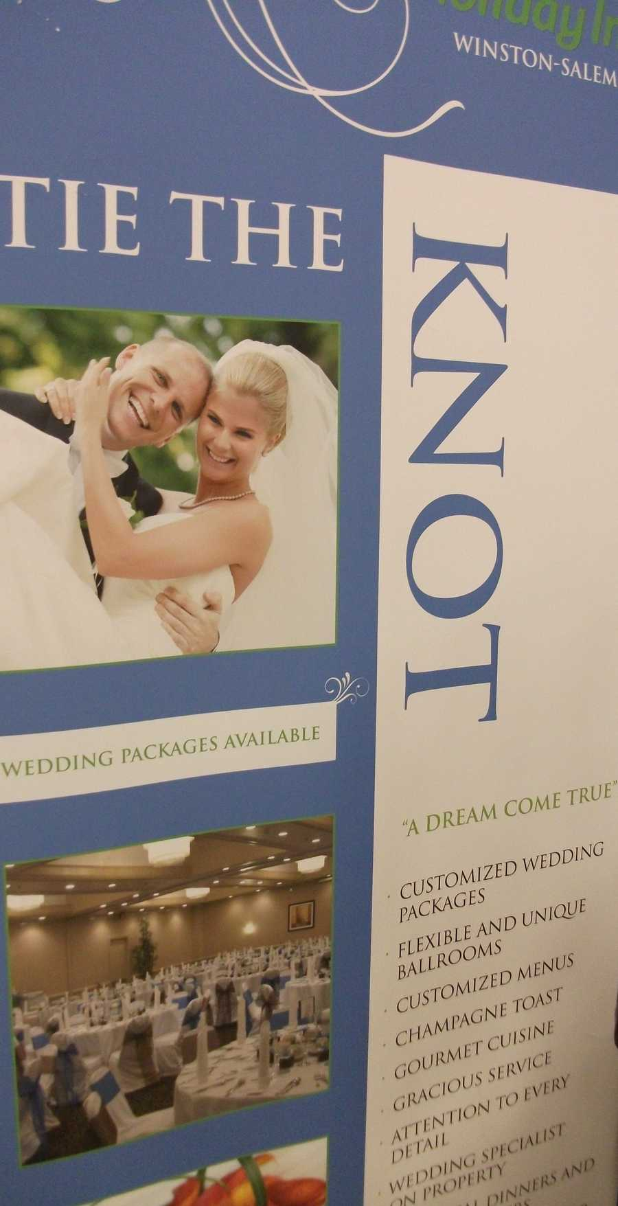 Tie the knot with the help of Holiday Inn in Winston-Salem with on property wedding planner, wedding packages offered, catering and many moreamenities...