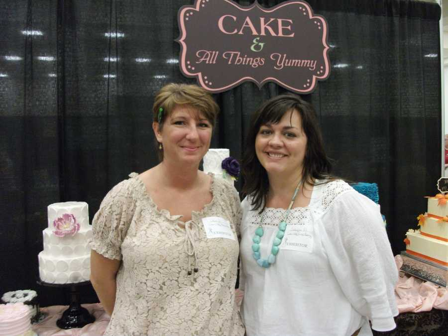 Cake & All Things Yummy was at The Carolina Weddings Show, showcasing their cakes and talk with couples...