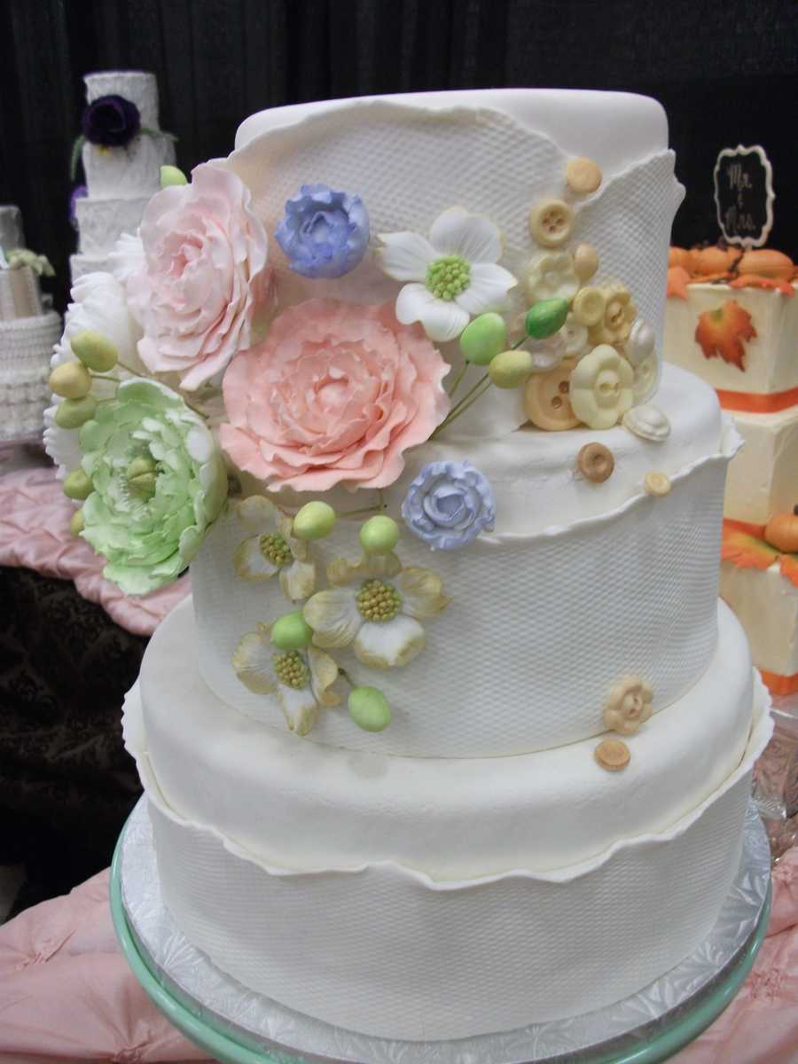 Wedding cakes galore at the Cake & All Things Yummy booth...