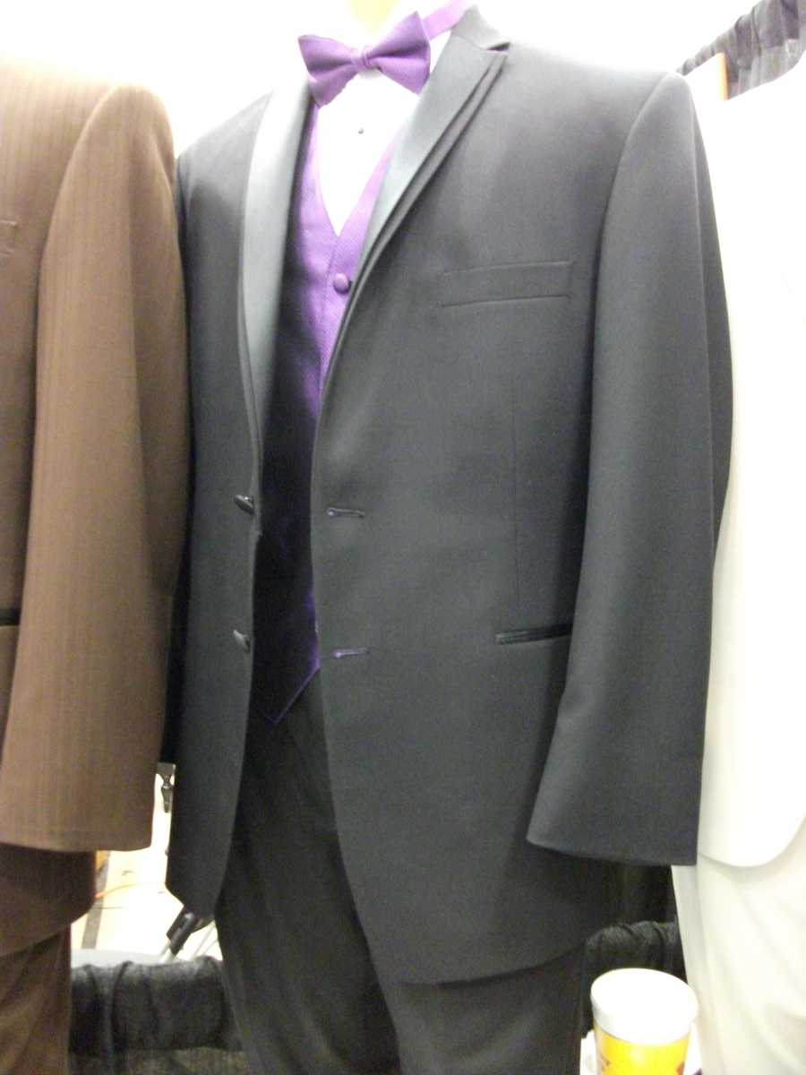 Grey is the new fashion white or black and adding some color jazzes it up...(Bruce's Tuxedo)