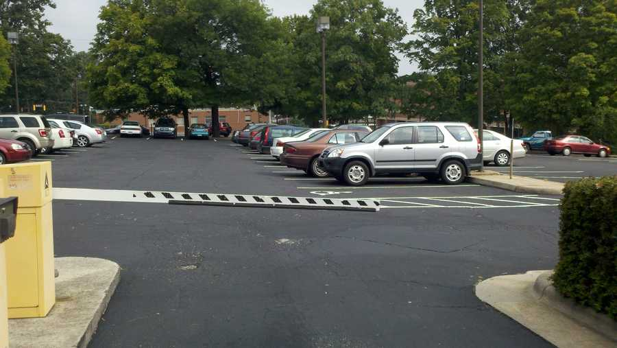 Surface parking lot on west side of Benton Convention Center (Rich Cisney/WXII)