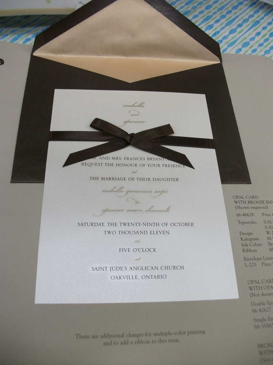 Invitations can be as traditional, modern or romantic as you want them to be...(Noteworthy - Fine Paper & Gifts)