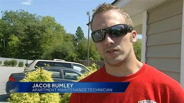 Jacob Rumley in an interview with WXII before being charged with arson