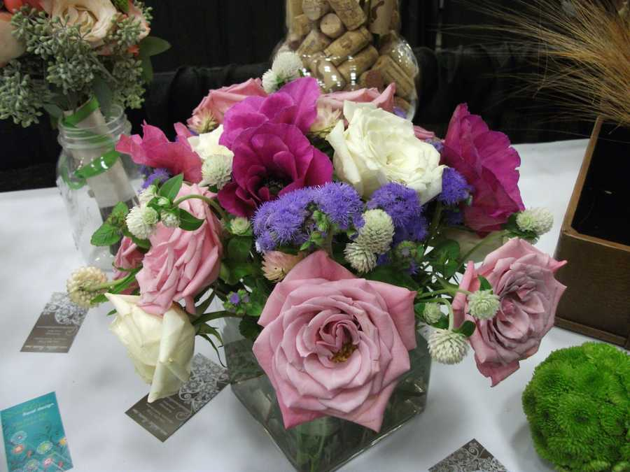 Dahlias Flowers at The Carolina Weddings Show