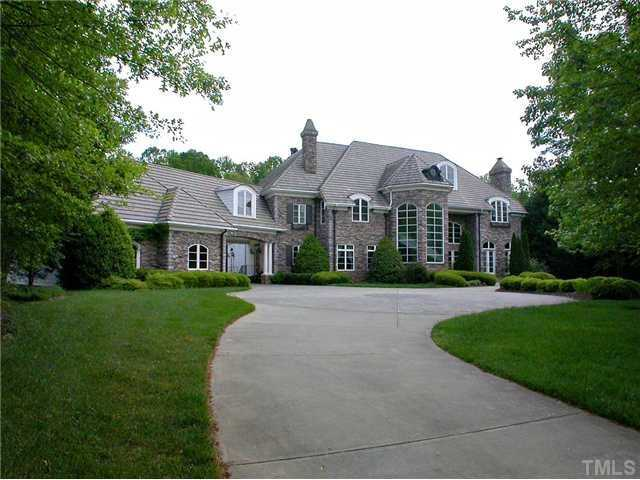 This Wake Forest home has over 12,000 square feet and is priced at $1,875,000. The home includes 5 bedrooms, 9 bathrooms, a wine cellar, and a home theater.