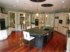 Gourmet Kitchen with brazilian cherry floors
