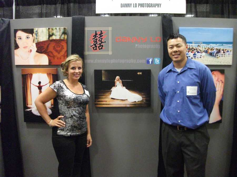 Danny Lo Photography showed off his photos from previous weddings and talked with couples to help them with their wedding photo needs...