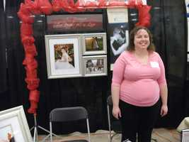 Many photographers had booths atThe Carolina Weddings Show with their work displayed.