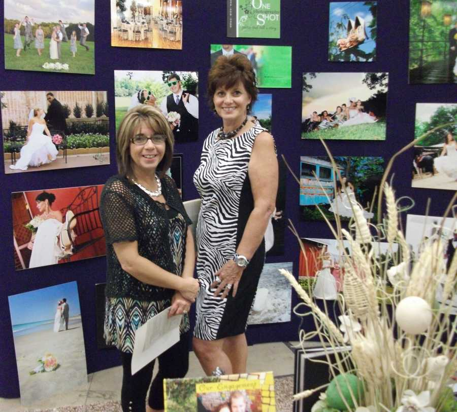 One Shot Photography had several of their photos on display to show their different style...