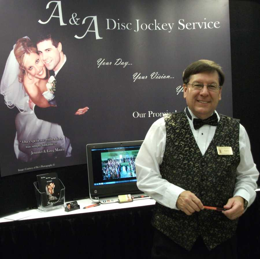 A & A Disc Jockey Service talked to the couples atThe Carolina Weddings Show for all their musical needs...