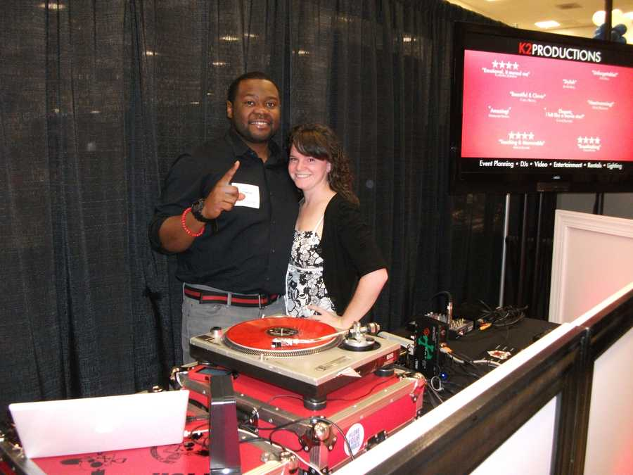 K2 Productions was set up atThe Carolina Weddings Show to show off their music and videos.