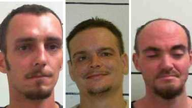 Jeremiah Bruce, Jason Newman, Jeremy Woody (left to right). Photos by Surry County Sheriff's Office