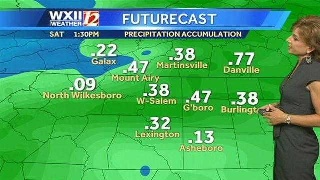 Rain futurecast into Saturday.
