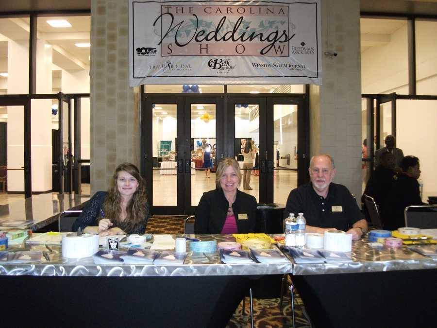 The Carolina Weddings Show has a lot to offer and the greeters help you with tickets and how to handle the maze of a bridal show...