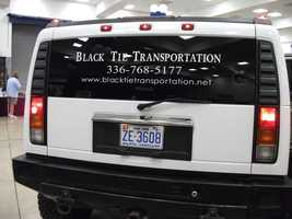 Even limo services are available to talk to at The Carolina Weddings Show about all your transportation needs. (Black Tie Limousine Services)