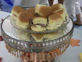 Sandwiches served up for a casual bachelorette, bachelor and wedding party or shower. (Karen's Cake and Candy Decorating)