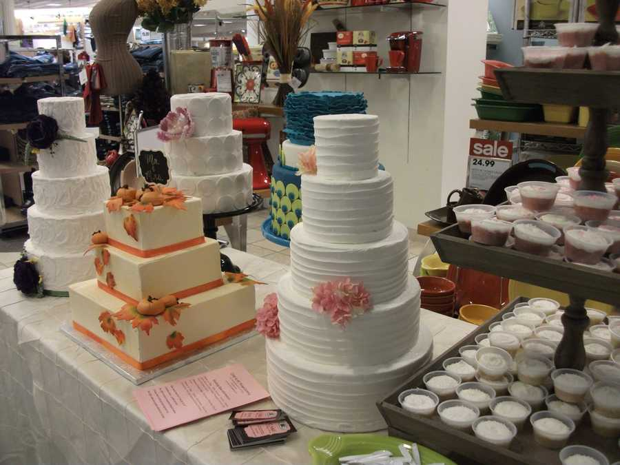 Cake and All Things Yummy was represented at the Belk Engagement Party. They had a lot for couples to look at and decide on for their wedding cake and desserts.