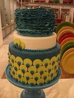 This colorful creation can be used in a Modern and Whimsical themed wedding. (Cake and All Things Yummy)