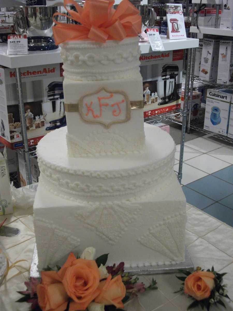 Bridal shower, wedding and even grooms cakes can be made by Lowe's Foods.