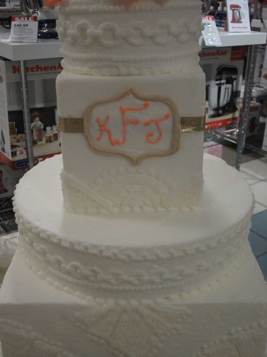 Details are even made on these wedding cakes at the Belk Engagement Party by Lowe's Foods.