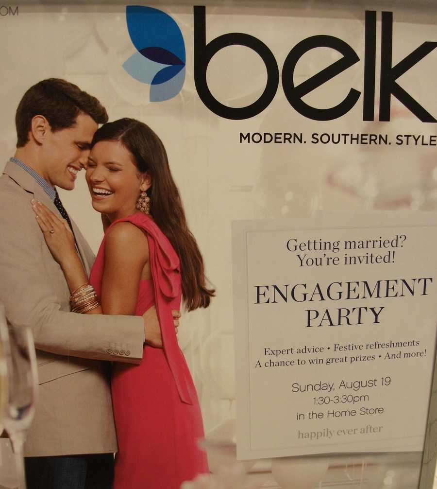 Belk Engagement Party usually is twice a year so be on the look out for it. These bridal shows are more intimate and couples can get to vendors easier than big wedding shows.