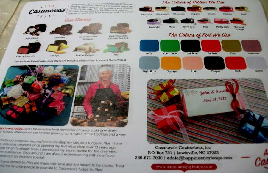So many different flavors to choose from the Casanova's Confections Inc. candies.