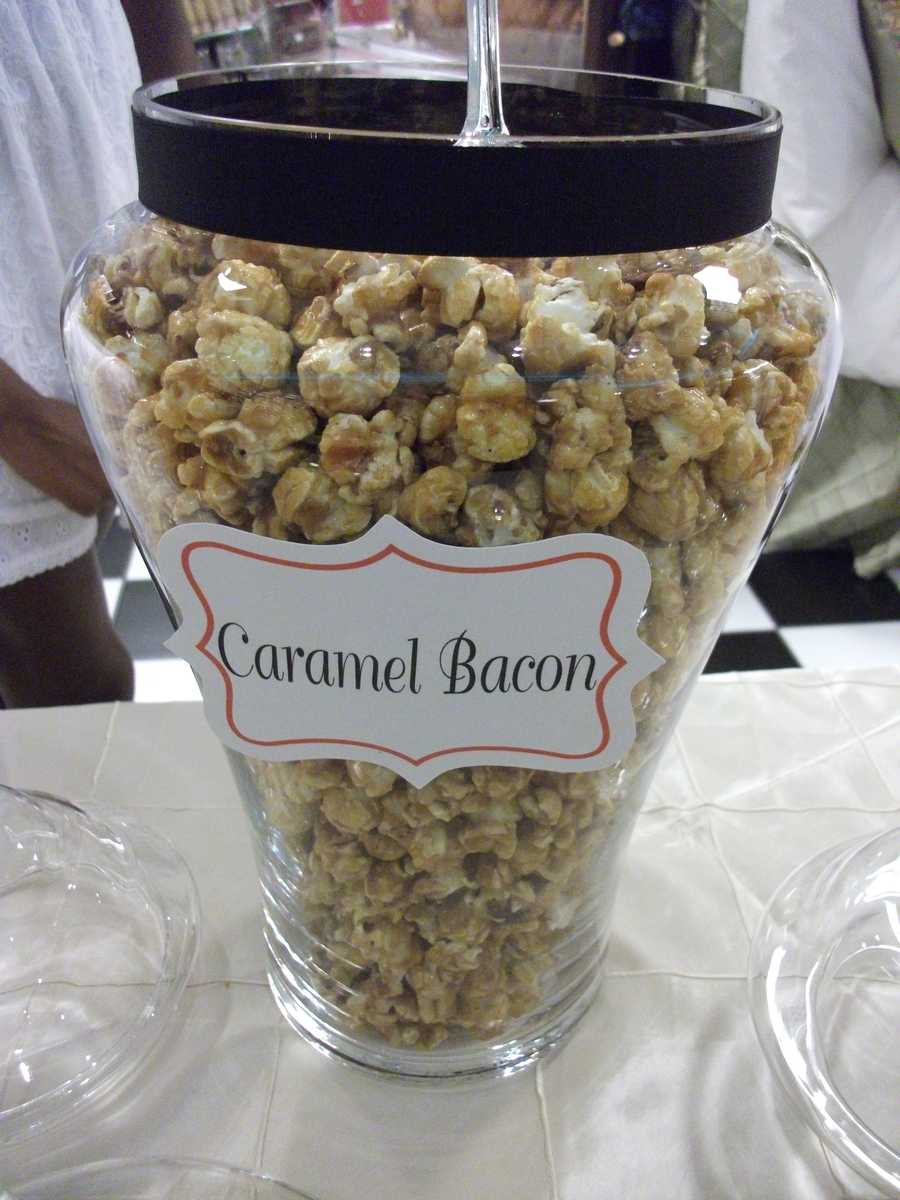 Caramel Bacon is one of the many flavors couples wouldn't think of but it was great tasting. (The Popcorn Fanatic)