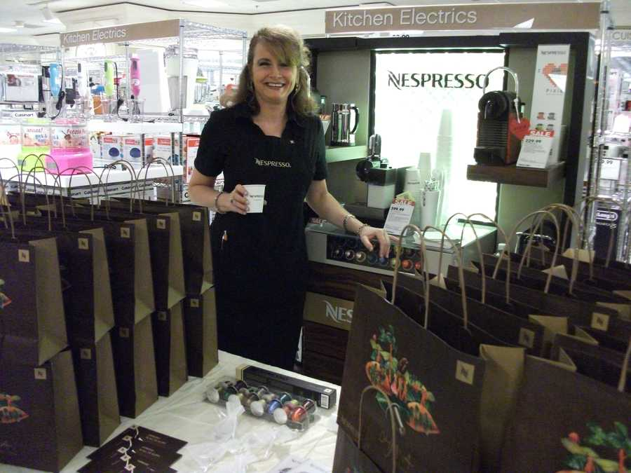 Nespresso was even in attendance at the Belk Engagement Party showing couples what they may want to add to their registry list.