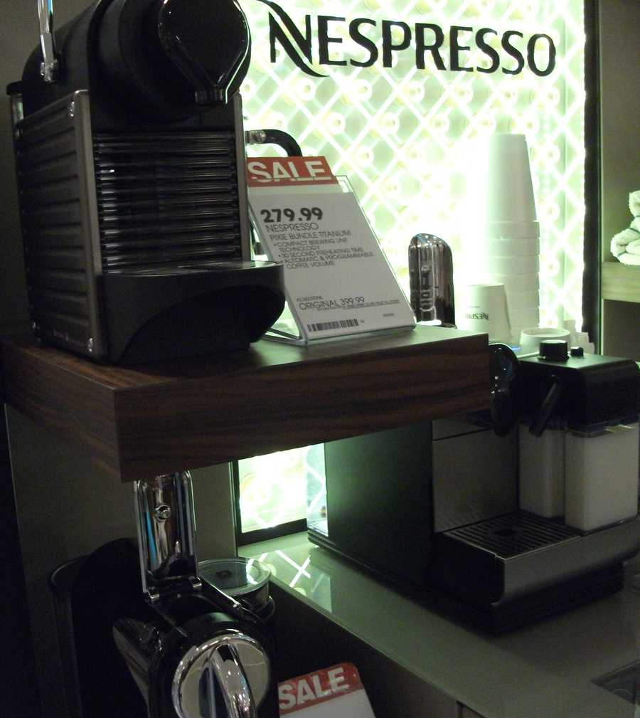 Nespresso machine for couples to use at the wedding reception and then in their new life together.