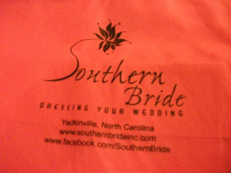 Southern Bride gave away bags with information to the couples at the Belk Engagement Party.