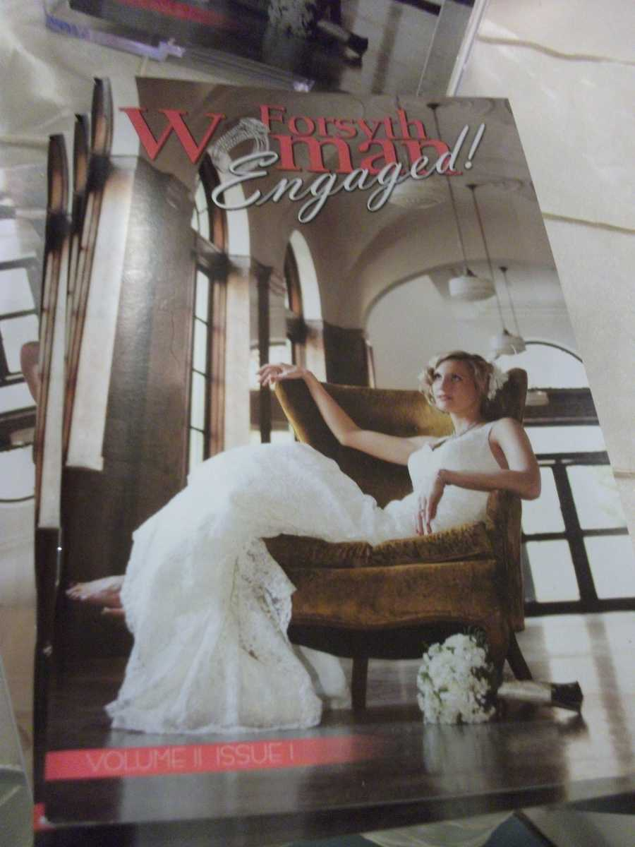 Forsyth Woman Engaged Magazine has helpful tips for your wedding planning. Several copies were given out to guests at the Belk Engagement Party.