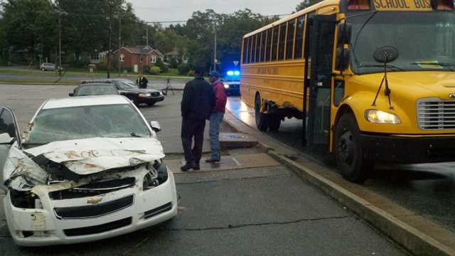 Greensboro crash involving school bus