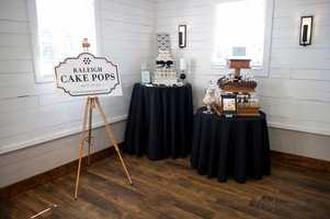 Raleigh Cake Pops had lots of goodies to share with couples while talking with them about their wedding plans.