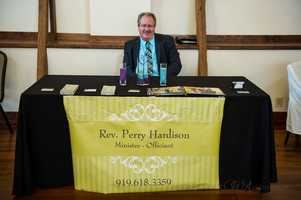 Reverend Perry Hardison was available to talk with couples about his before the wedding services like marriage counseling and then officiates the wedding ceremony.