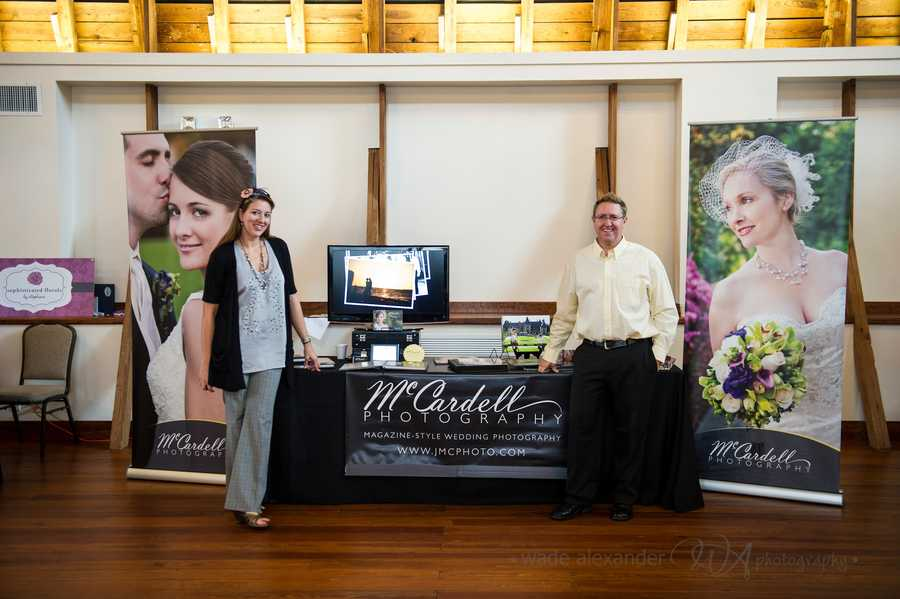 McCardell Photography was present at the WinMock Bridal Show to show couples what they had to offer for wedding photo packages.