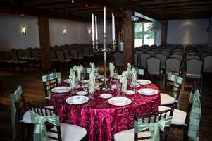 Hauser Rental Company setup the tables for that reception feel and couples could get a look at what they might want for their decor.