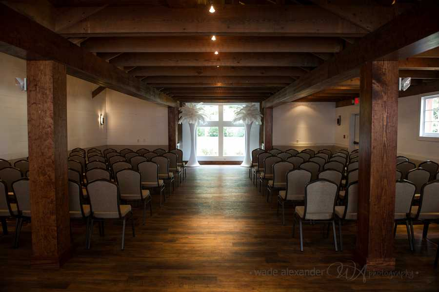 The wide spaces in these different rooms can be used for the ceremony. (WinMock at Kinderton)